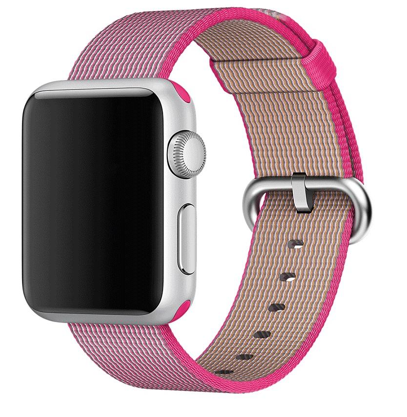 f824923c4f9 Pulseira De Nylon Tecido P  Apple Watch 42mm Rosa