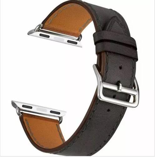 201d7e3e40b Pulseira Em Couro Estilo Hermes Apple Watch 42mm - Preta