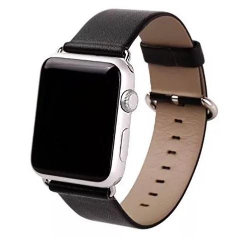06ff52a6e8d Pulseira Em Couro Legítimo Para Apple Watch 38mm - Preta