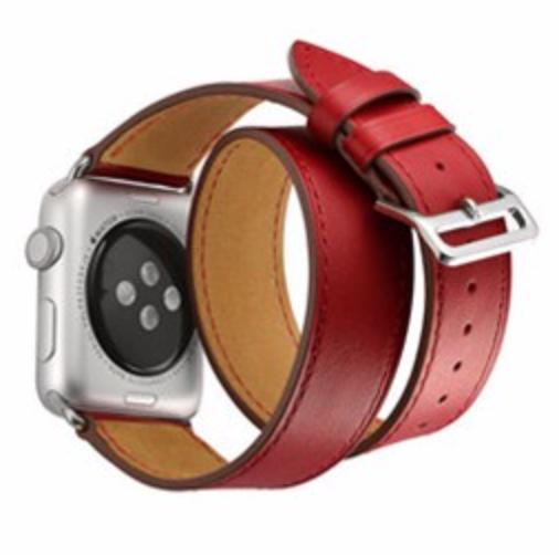 cd3d167c59f Pulseira Couro Estilo Hermes Double Tour Apple Watch 42mm