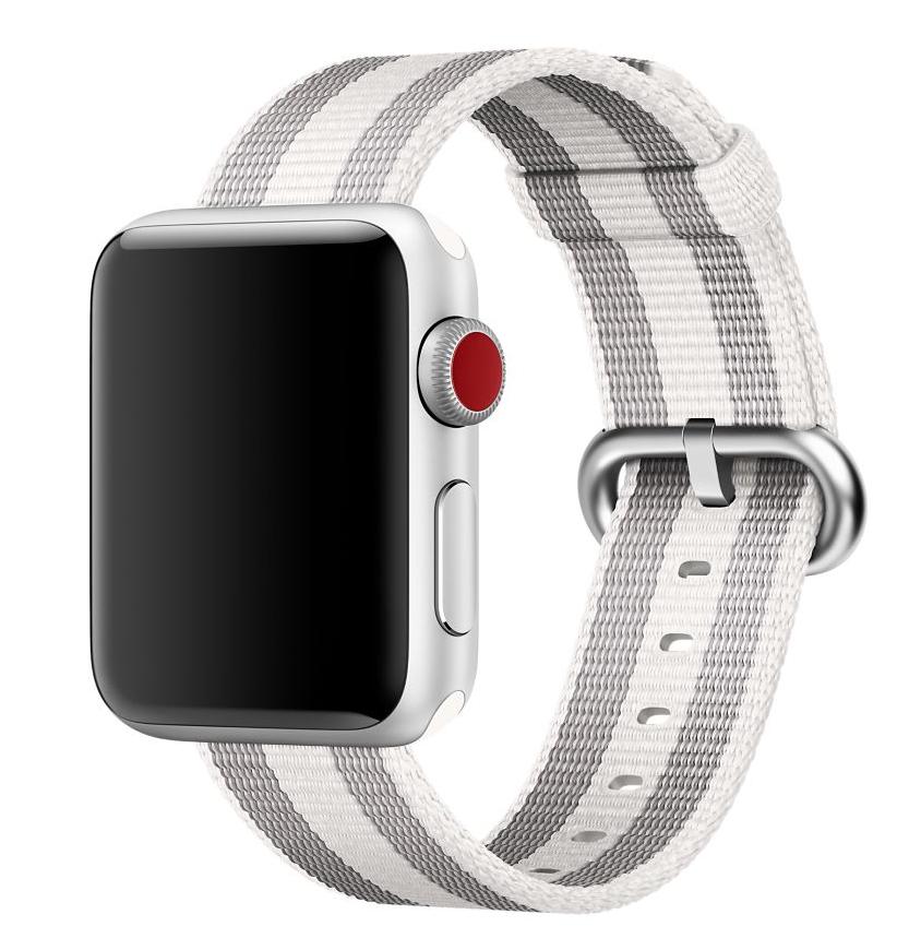 10a87b66013 Pulseira De Nylon Apple Watch 42mm Serie 1 2 3 Branca Lis