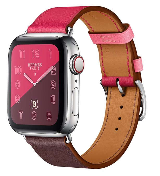 502b59656cc Pulseira Couro Estilo Hermes P  Apple Watch 42 44mm - Ros